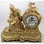 Reloj Guarnición Ansonia Siglo Xix, Laminilla Oro 24 K 1882