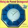 Reloj De Pared 26 Cm De Diámetro Dos Modelos Azul O Gris