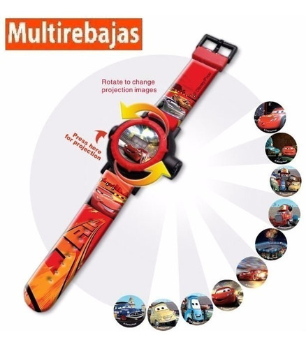 relojes disney para niñas y niño cn proyector de 32 imágenes