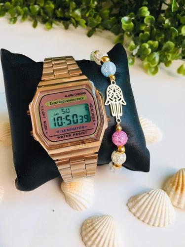 relojes estilo casio de acero