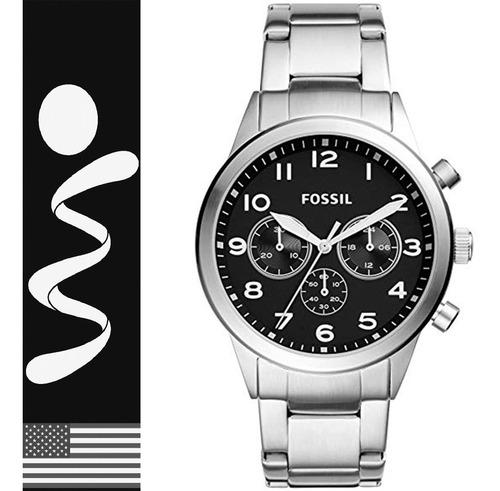 relojes fossil bq2119 acero chronograph original nuevo caja