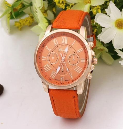 relojes geneva mayoreo moda mujeres hombres casual garantía