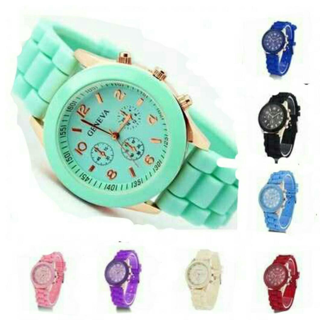 e8062fd70779 Relojes Geneva Y Otras Marcas De Silicona -   90