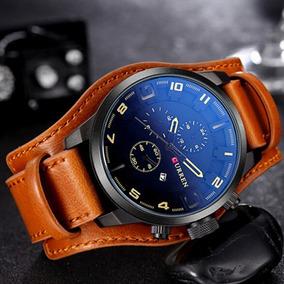 mitad de descuento Precio 50% Garantía de calidad 100% Relojes Hombre Curren 8225 Militar Analogo Brasalete Cuero