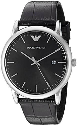 2fed1e5be9ef Relojes Hombre Emporio Armani Ar2500 Dress Negro Cuero Wat ...