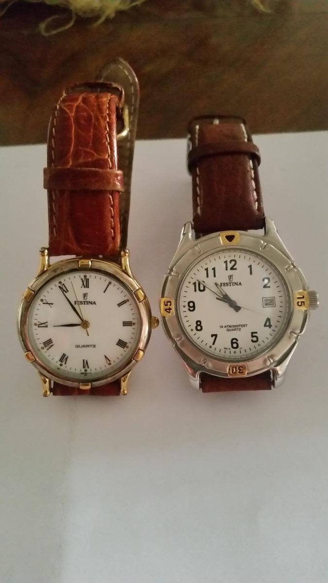 1e7cbf16f47c 2 Relojes De Hombre Marca Festina. Correas De Cuero -   125.000 en ...