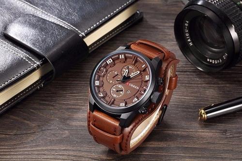 relojes hombre  militar sport analogo brazalere pulsera piel