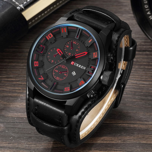 relojes hombre  militar sport analogo brazalete pulsera piel