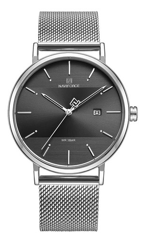 relojes hombre naviforce acero inoxidable + caja gratis