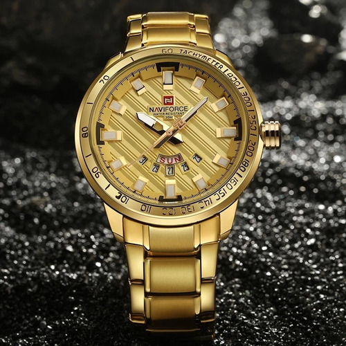 relojes hombre naviforce gama alta acero pulido inoxidable