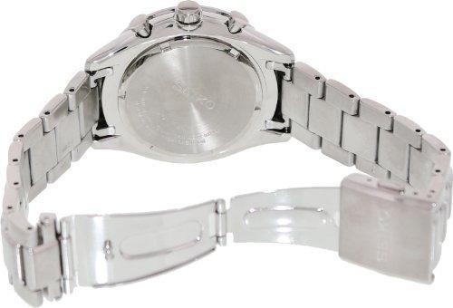 relojes hombre seiko negro dial cuero negro reloj cronog 899