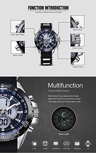 relojes hombre weide analogicos digitales de color lleva 170