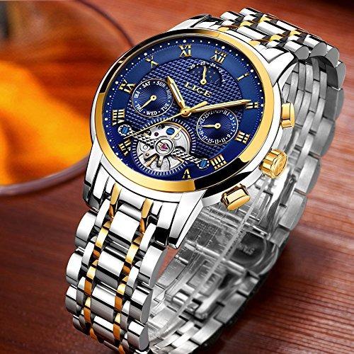 79dd23737a09 Relojes Hombres Lige Reloj Mecánico Automático Acero Inoxi ...