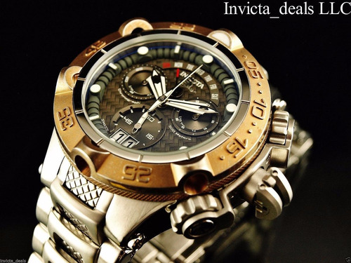 relojes invicta mens swiss subaqua noma v gold 18kl brazalet