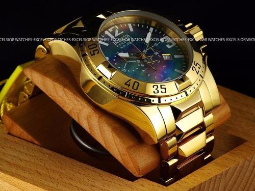 relojes invicta reserve excursion swiss gold 18kl bracelet