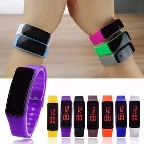 relojes led  de silicona varios colores