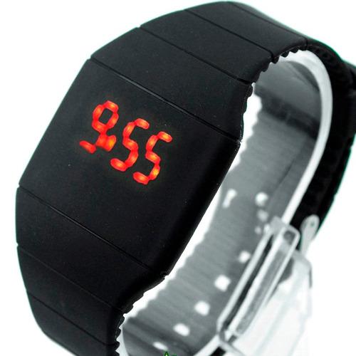 relojes led silicon unisex pantalla tactil sin baterias