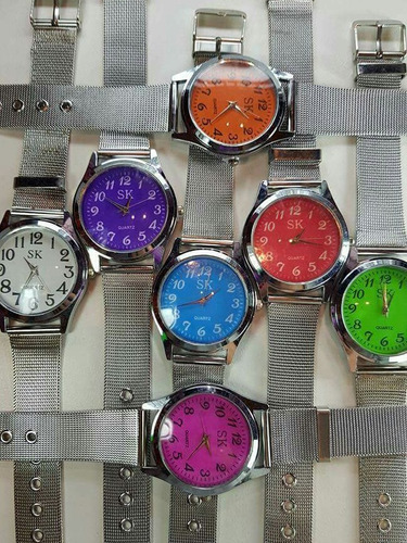 relojes maya de acero quirúrgico