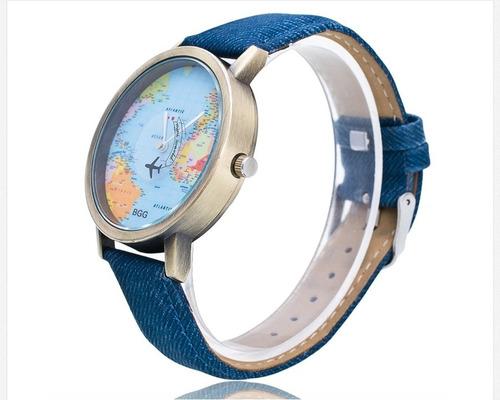 relojes mayoreo unisex mapamundi + envio gratis
