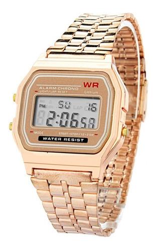 relojes mayoreo vintage retro digital a168  correa metal