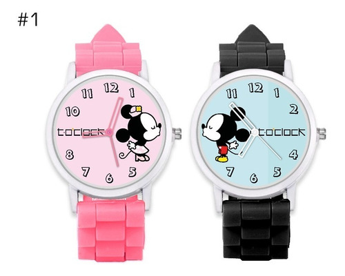 relojes mickey - minnie (pareja)  + caja regalo