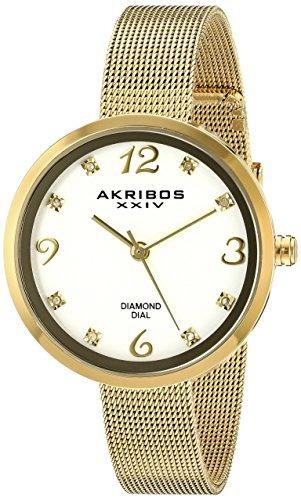 relojes mujer akribos xxiv ak875yg amarillo dorado del d 317