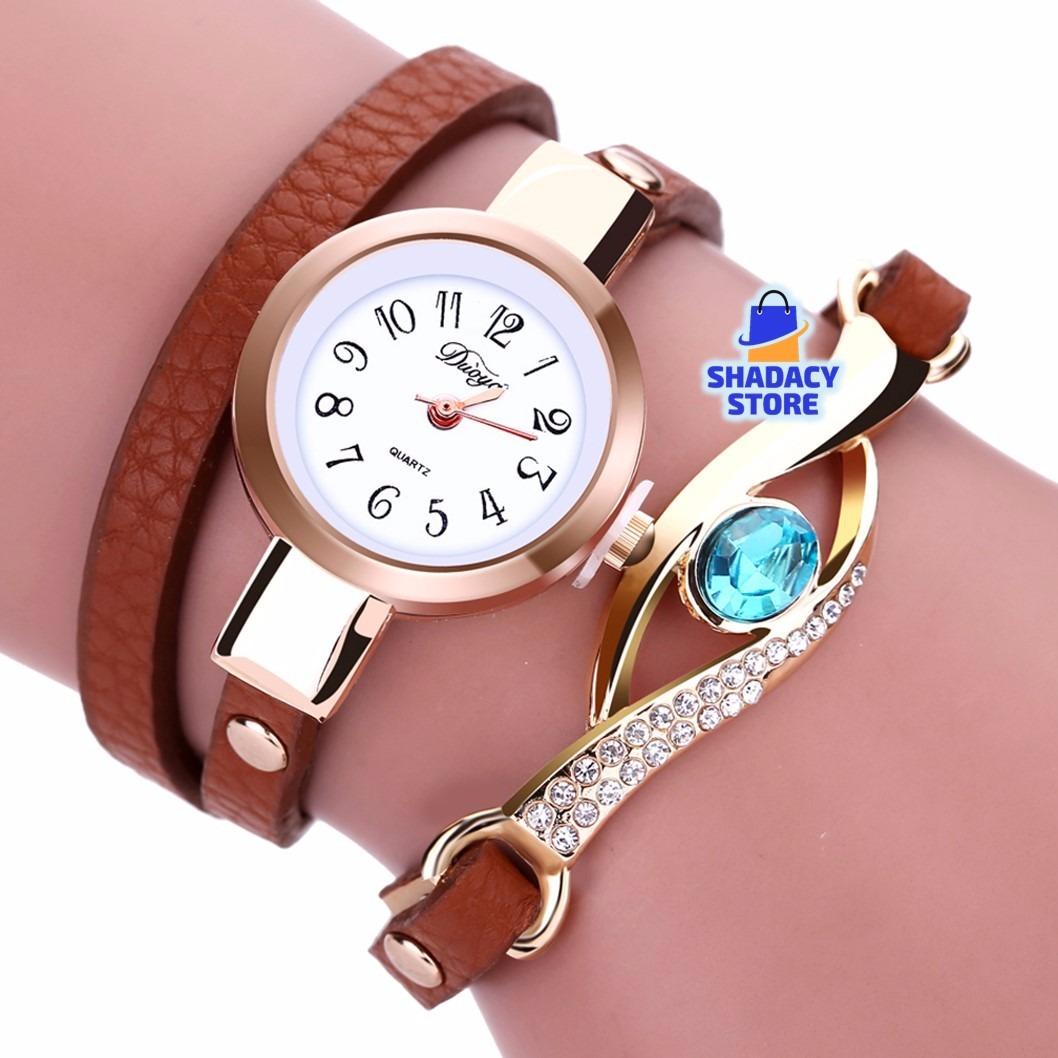 75908a7432e4 relojes mujer pulsera brazalete cuero joya. Cargando zoom.