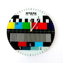 Reloj Mural Pared Morph Diseño Señal Televisor
