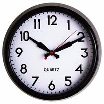 Reloj 38 Cm Borde Negro 9.5 Cm Home Collection