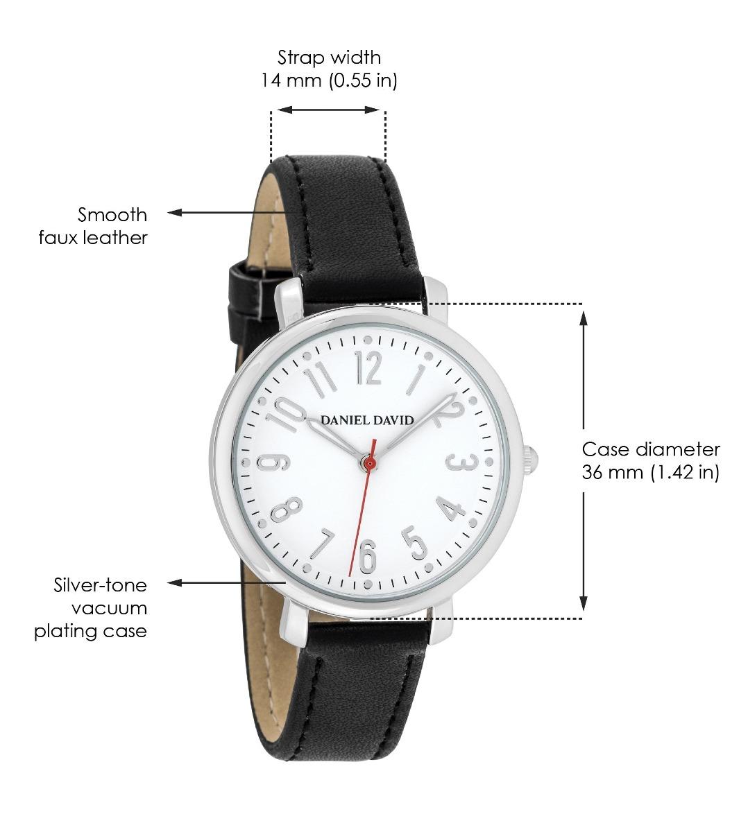 17506829098d relojes para mujer de daniel david - elegante reloj de cuero. 6 Fotos