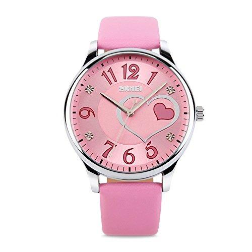 27431879cbe5 Relojes Para Mujer, Señoras Niñas Vestido De Cuero De Acero