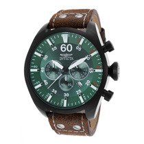 Reloj Invicta 19670 Es Aviator Chrono Brown Genuine Leather