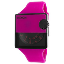 Reloj Nixon Es Rubber Murf Magenta Rubber Black Dial -