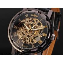 Espectacular Reloj De Hombre Modelo Exclusivo Skeleton