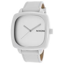 Reloj Nixon Es Ceramic Shutter White Genuine Leather And