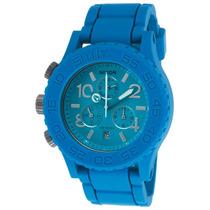 Reloj Nixon Es 42-20 Chronograph Blue Rubber Blue Dial -