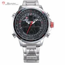Shark Reloj Deportivo Y Militar Dual Time Super Oferta!!