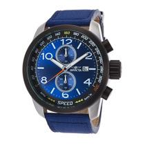 Reloj Invicta 19411 Es Aviator Chrono Blue Nylon Blue Dial