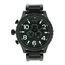 Reloj Luxury Nixon 51-30 Chronograph Black Dial Stainless
