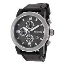 Reloj Nixon Es Ride Chronograph Black Horween Leather Grey