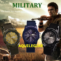 Reloj De Hombre - Estilo Militar Y Deportivo - Colores