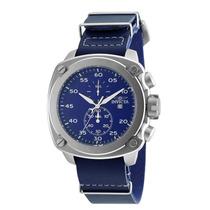 Reloj Invicta 19433 Es Aviator Chrono Blue Genuine Leather