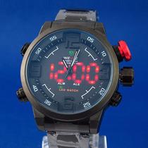 Reloj Weide Hombre Militar Digital Led Y Analogo Carreras