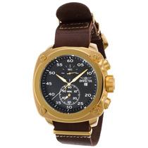 Reloj Invicta 20059syb Es Aviator Chrono Brown Genuine