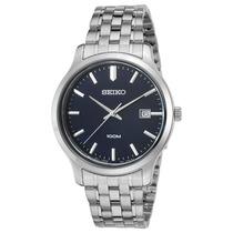 Reloj Seiko Sur143p1 Es Neo Classic Stainless Steel Navy