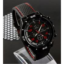 Reloj F1 Gt Speed Racer, Colores Rojo Y Blanco