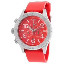 Reloj Nixon Es 42-20 Chrono Red Polyurethane And Dial -