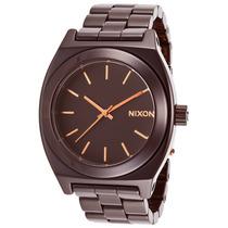 Reloj Nixon Es Ceramic Time Teller Brown Ceramic Dark Brown
