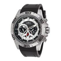 Reloj Invicta 21735 Es Aviator Black Polyurethane Carbon