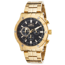 Reloj Invicta Es Specialty Chronograph 18k Gold Plated